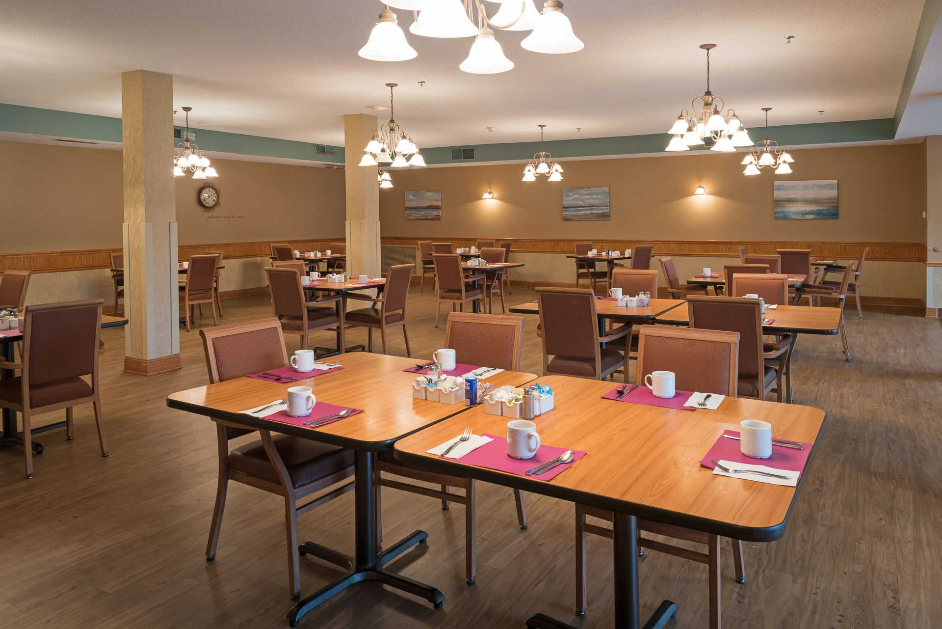 Epiphany Senior Housing cafeteria in Coon Rapids